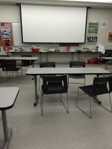 The classroom is clean! Ready for next summer!