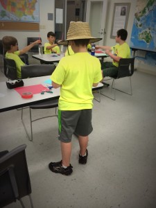 Crazy hat day at camp!